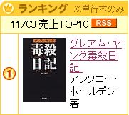bk1の11月3日の売上TOP